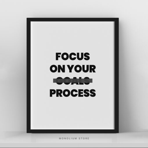 Poster Dinding Focus On Your Process