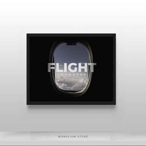 Poster Hiasan Dinding Flight